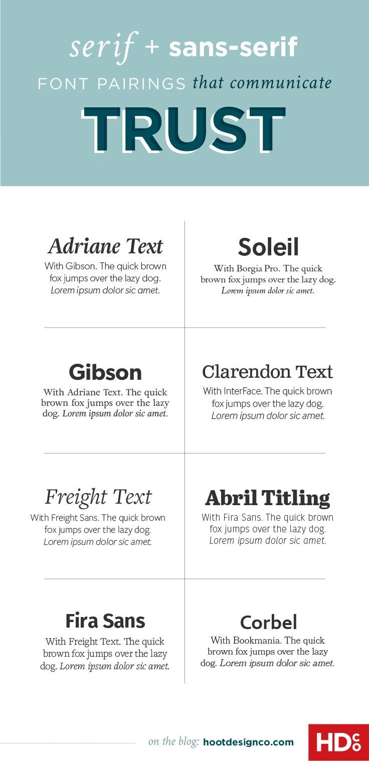 Good Font Combinations For Resumes