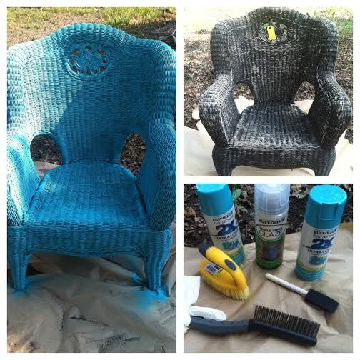 30 Best Images About Painting Wicker Furniture On Pinterest Gold Chairs Furniture And Wicker