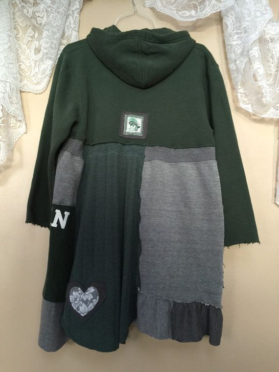 Upcycled MSU Game Day Sweatshirt Dress Warm by SimplyCathrineAnn