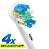 ORAX Aufsteckbürsten für Oral B elektrische Zahnbürsten, 4 Stück, Floss Action / Tiefenreinigung