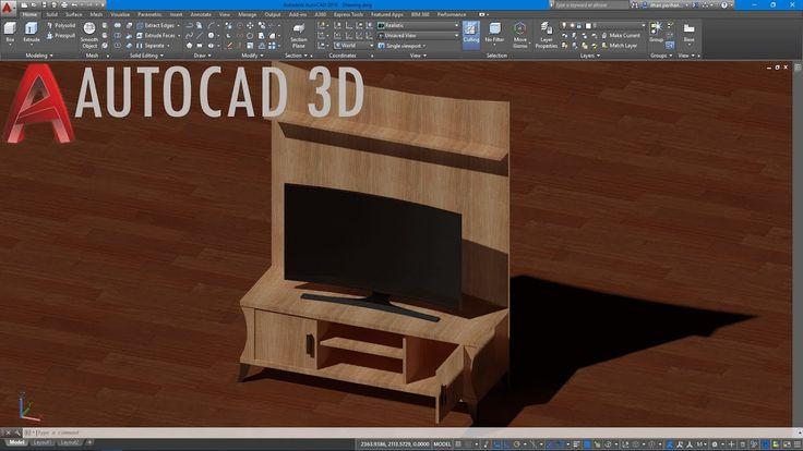 AutoCAD 3D Curved Tv Çizimi