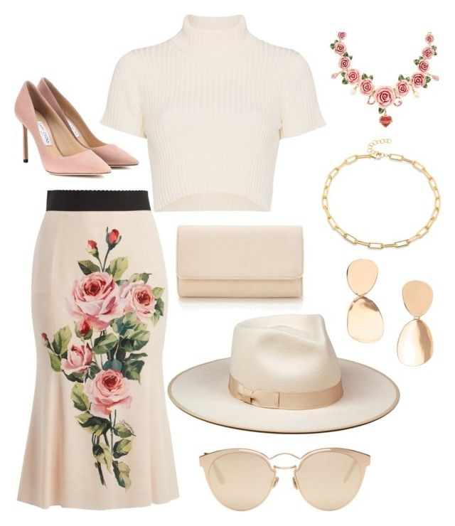 """My daughter's having fun :))"" by alexiss-yvore on Polyvore featuring Dolce&Gabbana, Staud, Jimmy Choo and Christian Dior"