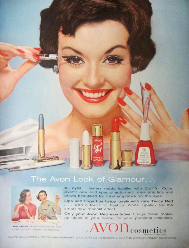 1959 Avon Cosmetics Vintage Advertisement Bathroom Wall