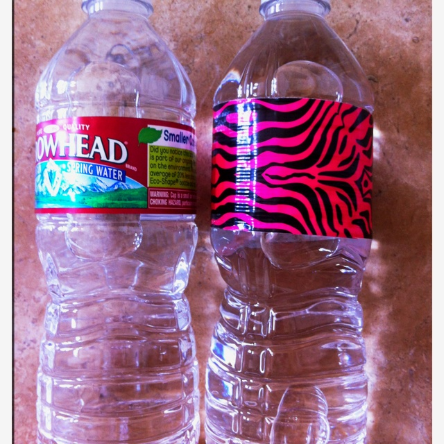 I used this Pinterest idea for my daughter's Monster High (pink/black) B'day Party. $3.39 for duct tape & 10 min for a case of water. :) thx Pinterest!