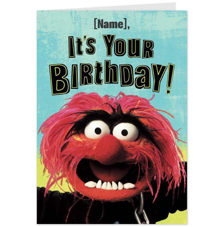 Funny Muppet Meme: Animal Muppet, Hallmark Cards, Funny Birthday