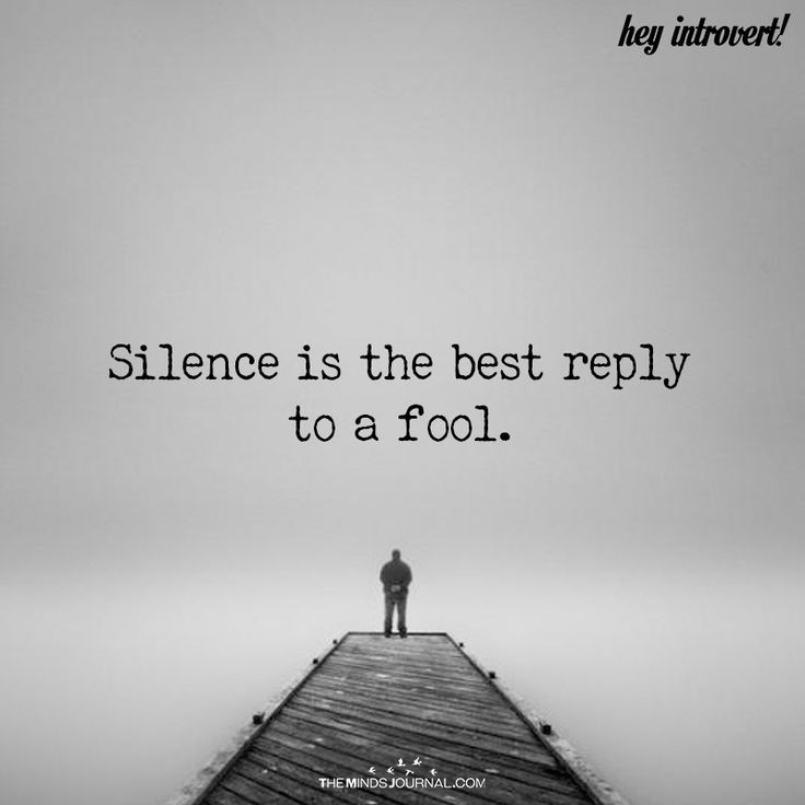 Silence Is The Best Reply To A Fool - https://themindsjournal.com/silence-best-reply-fool/