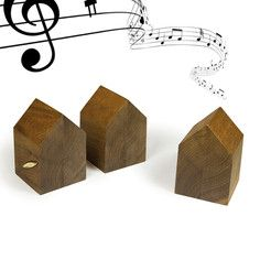 House-Shaped Music Box Wood, 52€, now featured on Fab.