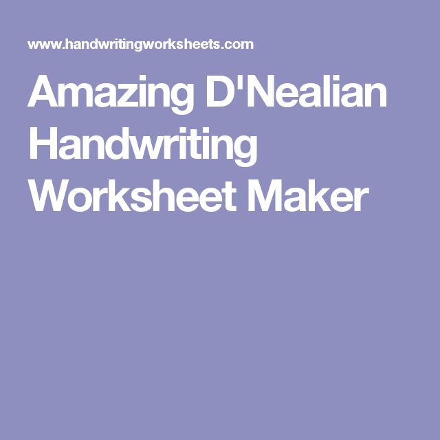 Printables Kindergarten Handwriting Worksheet Maker 1000 ideas about handwriting worksheet maker on pinterest kids amazing dnealian maker