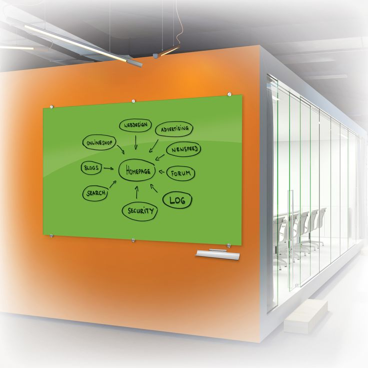 photo or rendering of Visionary Colors - Magnetic Glass Dry Erase Whiteboard