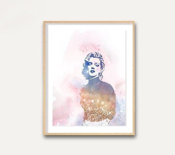 Marilyn Monroe Watercolour Painting Marilyn by Unbreakabubble