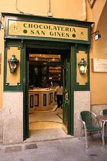 Chocolatería San Ginés, Madrid, Spain ~ serving chocolate con churros since 1894 (and coffee)