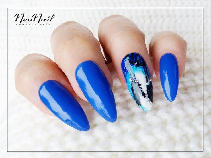 Niebieskie paznokcie hybrydowe / Nailart / NeoNail