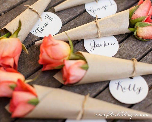 DIY flower placecards