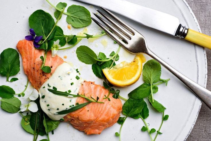 Wild King Salmon With Savory Whipped Cream Recipe - NYT Cooking - salmon scallopini? sautéed in cast-iron skillet with butter