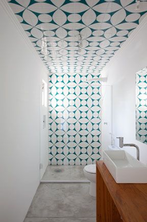 Vogue Living | New kitchens and bathrooms | The Australian (tiled ceiling)