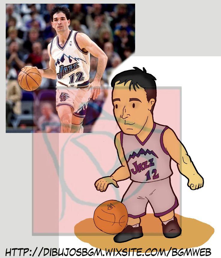 John Stockton, NBA, Baloncesto, Caricatura, Utha Jazz