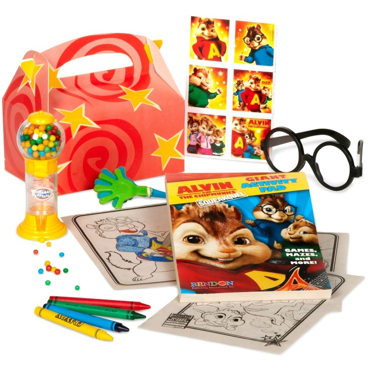 Party favors for Alvin and the Chipmunks