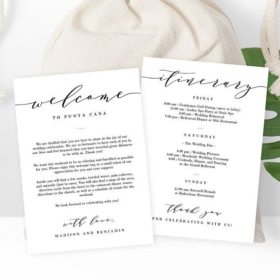 ... Pinterest Welcome bags, Wedding welcome bags and Wedding favor bags