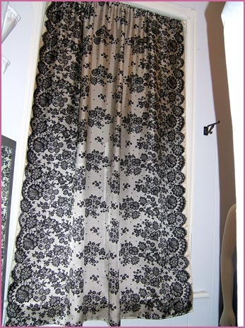 Black Kitchen Curtains And Valances Black Lace Sheer Curtains