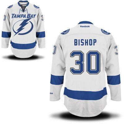 cce40198c73 ... Tampa Bay Lightning 30 Ben Bishop Road Jersey - White Lightning 30 Ben  Bishop White Stitched NHL ...