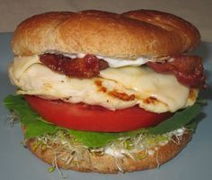 Top Secret Recipes | Carl's Jr. Charbroiled Chicken Club Sandwich Reduced Fat Copycat Recipe