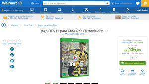 [Wal-Mart] Jogo FIFA 17 para Xbox One Eletronic Arts 3289985 - de R$ 287,24 por R$ 246,00 (14% de desconto)