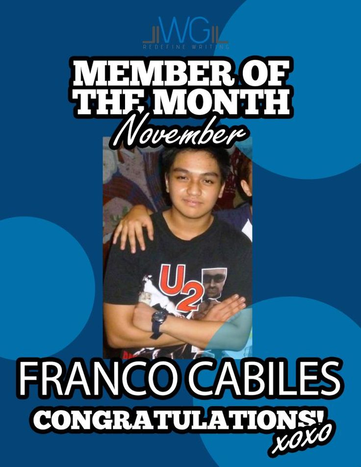Franco Cabiles - Member of the Month for November