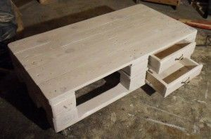 Pallet Couch Table 2: two floors, improved drawer slides - Pallet Furniture : Pallet Furniture