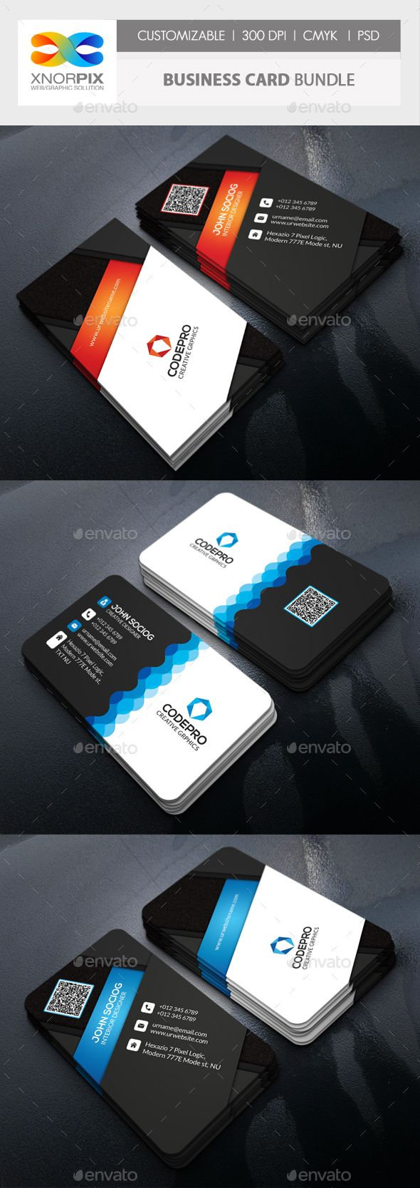 Business Card Bundle - Corporate Business Cards Download here : graphicriver.net...