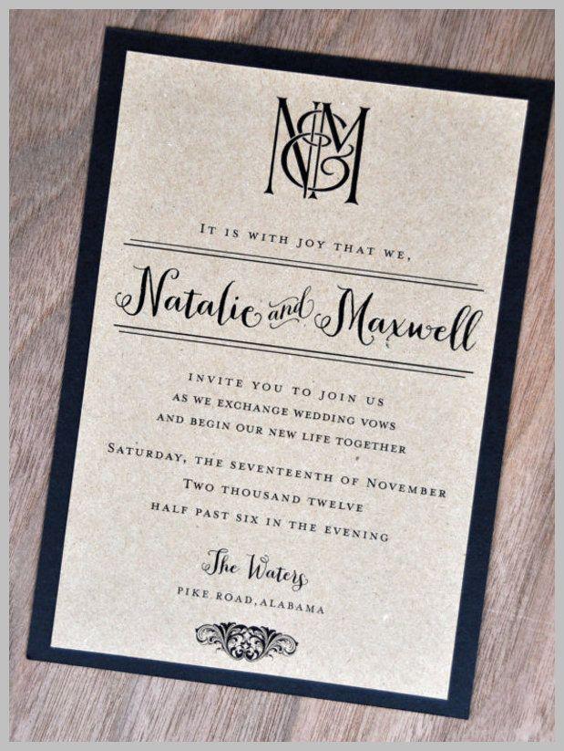 Wedding Invitation Wording A Moment Unlike