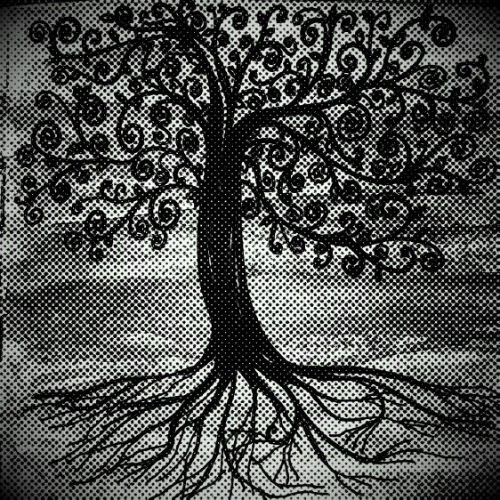 Tree of life An original ordinary art piece  www.originalordinary.co #art #drawing #tree #roots #black&white #canvasbags