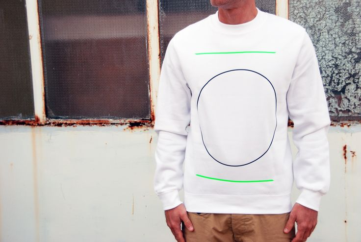 Sweatshirt Color: White 80% Cotton 20% Polyester Design: Circle