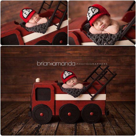 Fire truck Prop Photo Prop Newborn Photography by MrAndMrsAndCo