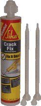 Concrete Sealant 10.1 OZ SIKADUR CRACK FIX [Misc.] [Misc.] [Misc.] [Misc.] by Sika. $15.29. 2-Component 100-percent solids, moisture-tolerant, low-viscosity epoxy resin adhesive. Conforms to the current ASTM C-881 and AASHTO M-235 specifications. Use as a gravity-feed of cracks in horizontal concrete and masonry, a low pressure injection of crac ks in structural concrete, masonry, wood, etc., or grout bolts, dowels, pins, etc. into horizontal concrete surfaces. Self-mixing. Fits ...
