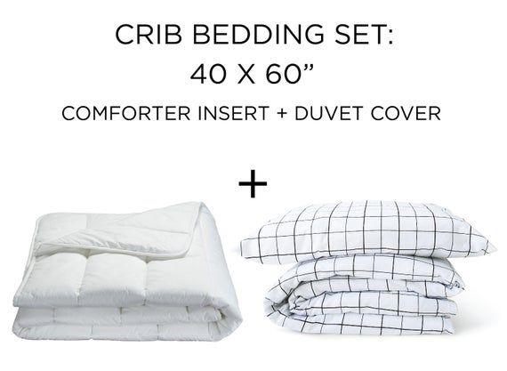 Toddler Duvet Insert And Grid Duvet Cover 40x60 Set Toddler