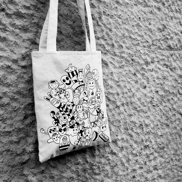 Troned Men Tote Bag de Mr.Rancio! Illustratie por DaWanda.com