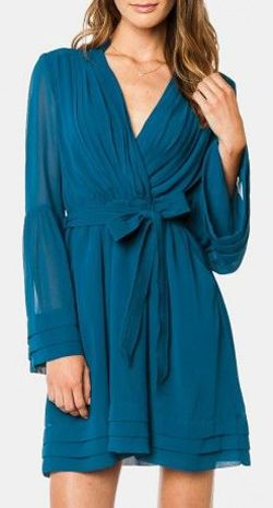 Rorey Wrap Dress in Teal