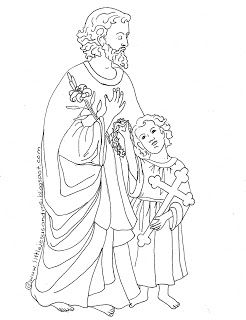 17 best images about saint coloring pages roman catholic for St joseph coloring page