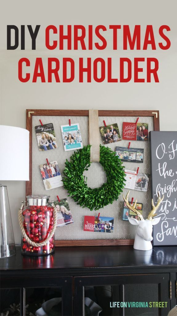 DIY Christmas Card Holder diy Christmas decorations Pinterest