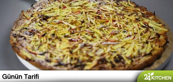 Elmalı kek, turta ve tartlardan daha fazlasını düşün! Rudolph van Veen'in yaratıcı zihninden enfes bir fikir!  #gununtarifi: Elmalı Pizza