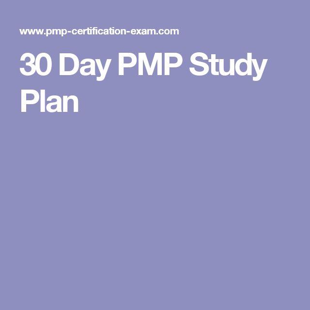 30 Day PMP Study Plan