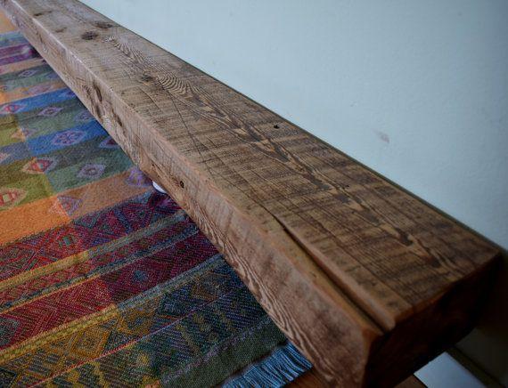 Reclaimed Barn Beam Wood Fireplace Mantel par UpcyclartDesigns