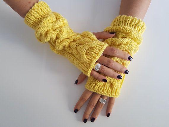 Women gloves fingerless gloves wool by TogetherDifferent on Etsy