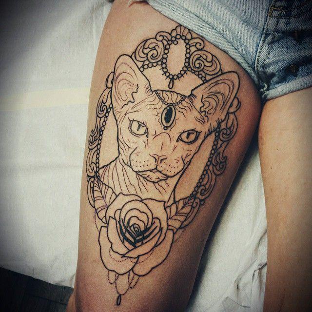 best 25 sphynx cat tattoo ideas on pinterest sphinx