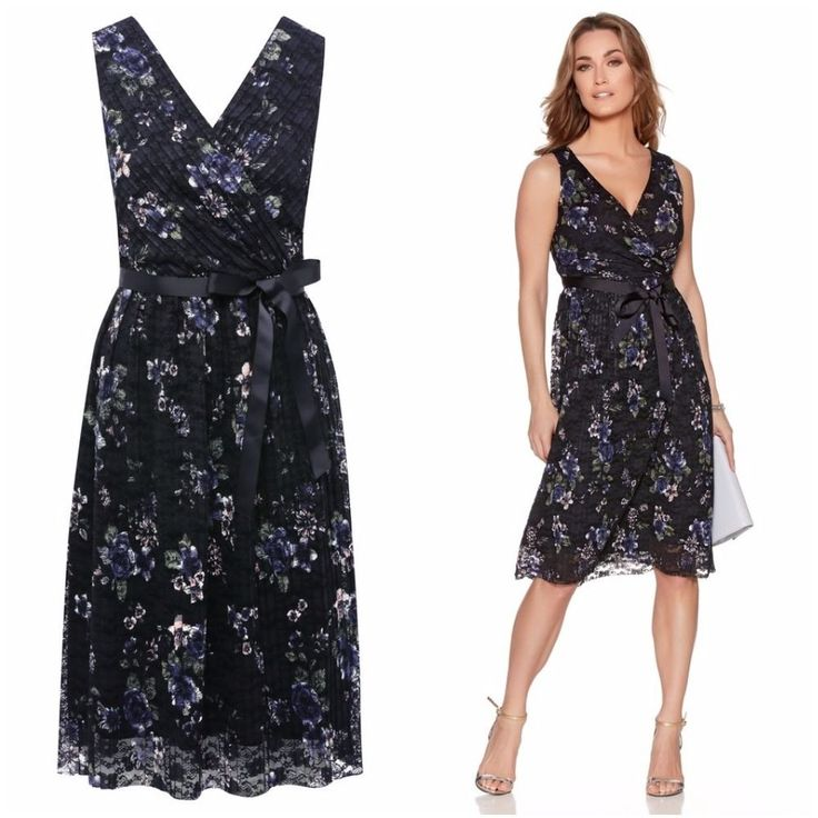 NEW M&CO FLORAL LACE FIT AND FLARE OCCASION TEA DRESS 8 to 20 RRP £49