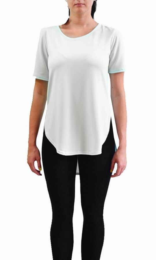 36887638bcb1ed Womens High Low Dip Hem Round Neck Top Ladies Baggy Casual Tee T Shirt Hem  Neck Dip