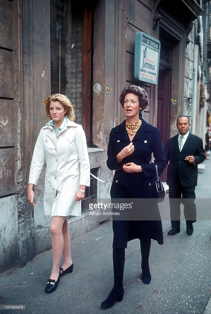 The wife of Gianni Agnelli, Marella Caracciolo and their daughter Margherita - Date of Photo: 1970-80