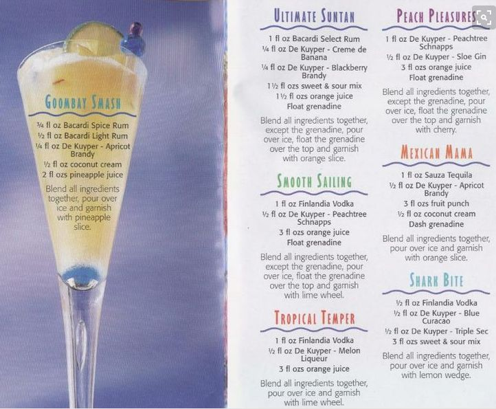Carnival Cruise Line Cocktail Recipes Cruise Line