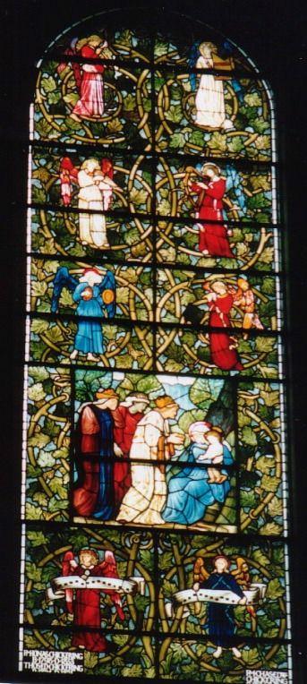 Προσκύνηση μάγων (1882) Βιτρό στην εκκλησία Αγίας Τριάδας στη Βοστόνη