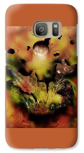 Falling Drops Galaxy S7 Case Printed with Fine Art spray painting image Falling Drops by Nandor Molnar (When you visit the Shop, change the orientation, background color and image size as you wish)
